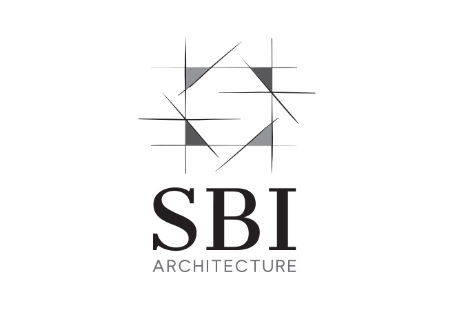 Agency work brand identity logo design graphic for S architecture logo