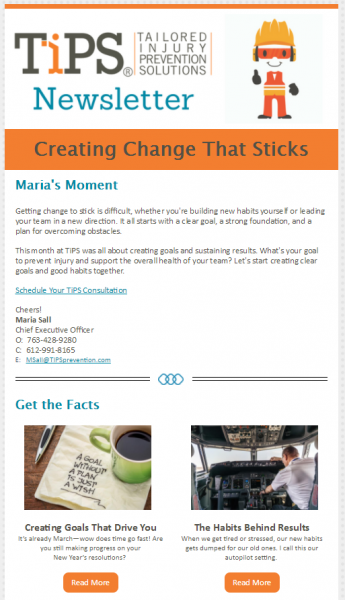 Tips Newsletter Screenshot 1